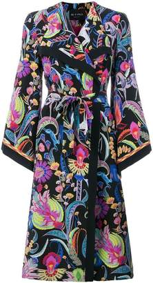 Etro long patterned trench coat
