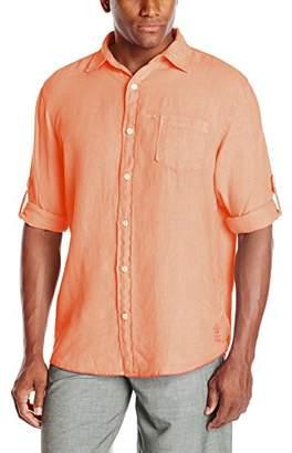 Margaritaville Men's Long Sleeve Cabana Linen Shirt