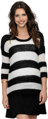 Design History Maternity Striped Three-Quarter-Sleeve Sweater $78 thestylecure.com