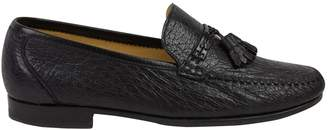 Moreschi Black Leather Flats