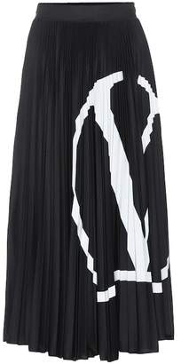 Valentino Go Logo jersey midi skirt