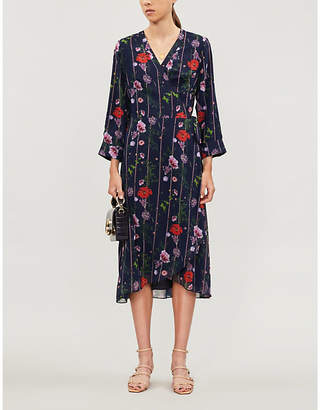 Ted Baker Hedgerow floral-print chiffon wrap dress