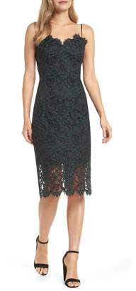 Eliza J Sweetheart Neck Lace Sheath Dress