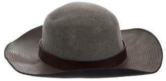 Lanvin Fur & Leather-Trimmed Quilted Fedora