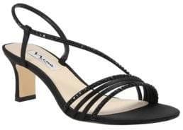 Nina Gerri Asymmetrical Suede Slingback Sandals