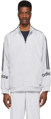 adidas Grey Velour Track Jacket