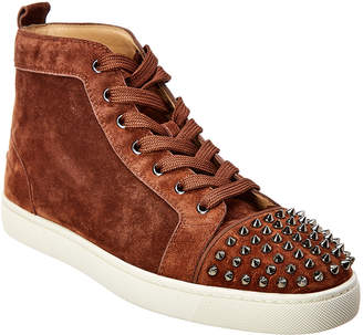 Christian Louboutin Louis Spike Hightop Suede Sneaker
