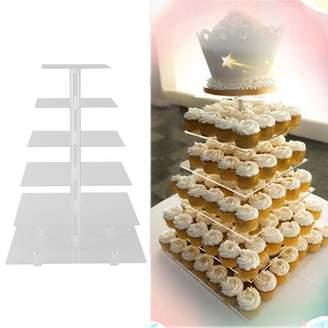 Balance Bar Detachable 6 Tier Circle Cup Cake Rack Round Acrylic Cupcake Display Stand