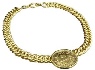 Chanel Gold-Tone Metal Pendant Necklace