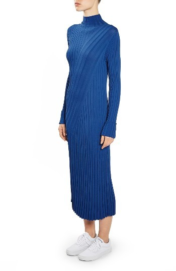 Women's Topshop Boutique Directional Ribbed Midi Dress 5