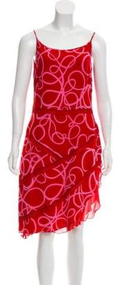 Rena Lange Printed Silk Dress