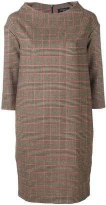 DAY Birger et Mikkelsen Antonelli plaid boat neck dress