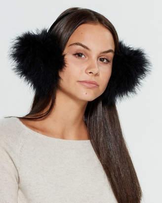 Jocelyn Real Feather Earmuffs