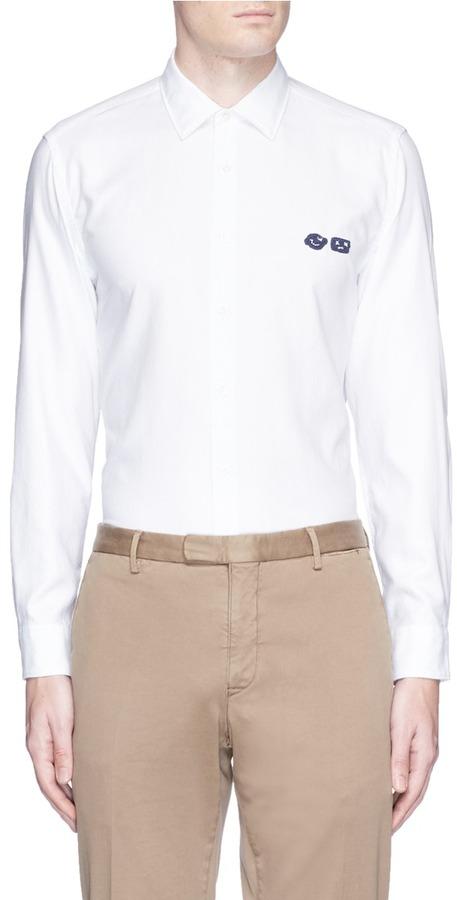 AlteaAltea Face patch cotton Oxford shirt