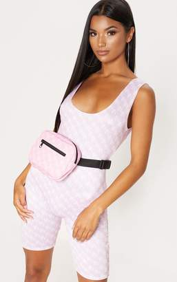 PrettyLittleThing PLT Pink Monogram Bum Bag