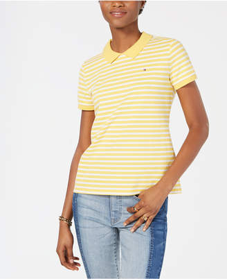 Tommy Hilfiger Striped Zip-Back Polo Shirt