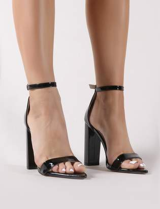 ad2a1f54cbe Public Desire Miao Pointed Barely There Heels Patent