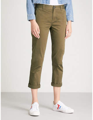 Current/Elliott The Confidant straight cropped stretch-cotton trousers