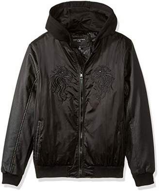 Urban Republic Mens Heavy Poly Satin Jacket