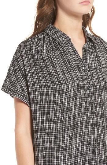Women's Madewell Central Plaid Shirtdress 4