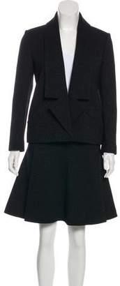 Chanel Wool Metallic Skirt Suit