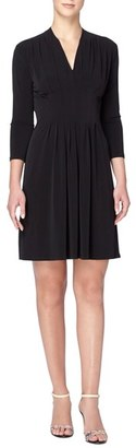 Women's Catherine Catherine Malandrino 'Tinka' Jersey V-Neck Fit & Flare Dress $98 thestylecure.com