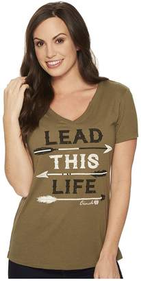 Cinch Screen Print V-Neck Tee Women's T Shirt