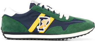 Polo Ralph Lauren logo embroidered colour block sneakers