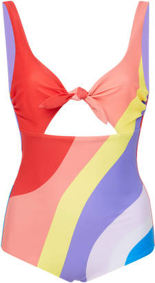 Mara Hoffman Adeline Cut Out Bow One Piece Swimsuit