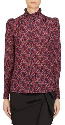 Isabel Marant Lamia Printed Silk Top