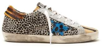 Golden Goose Super Star Leopard Print Low Top Trainers - Womens - Multi