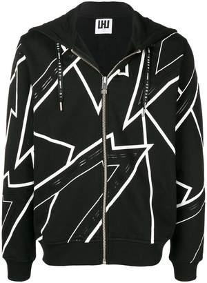 Les Hommes Urban zipped hoodie