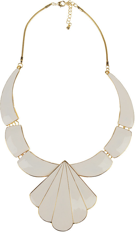 Scallop Plate Necklace