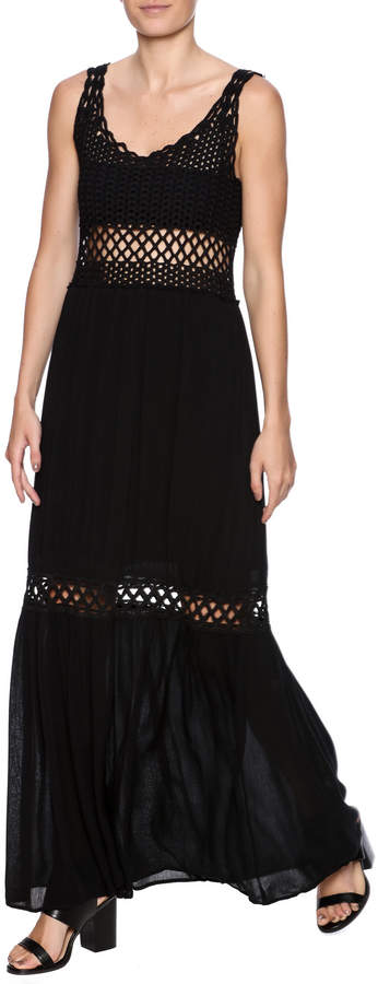 Love Stitch Lovestitch Crochet Maxi Dress