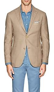 "Boglioli Men's ""K Jacket"" Virgin Wool-Blend Hopsack Two-Button Sportcoat-Beige, Tan"