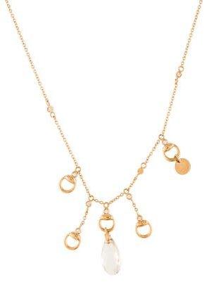 GucciGucci Diamond & Topaz Horsebit Necklace