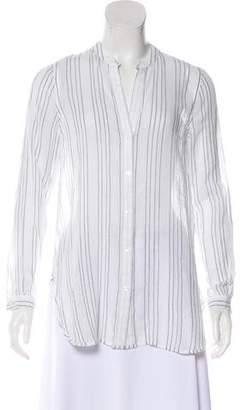 Vince Striped Button-Up Top