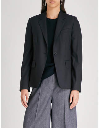 Max Mara Certosa single-breasted tailored-fit wool and silk-blend blazer