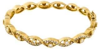 Doris Panos 18K 1.11ctw Diamond Cleopatra Bangle