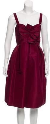 Oscar de la Renta Ruffled Silk Dress