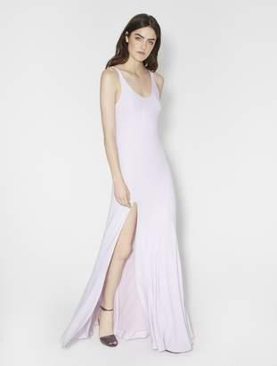 Halston Flowy Luster Georgette Gown