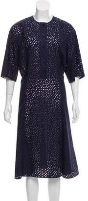 Salvatore Ferragamo Short Sleeve Midi Dress