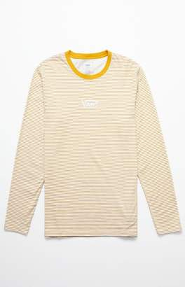 Vans Drop V Stripe Gold & White Long Sleeve T-Shirt