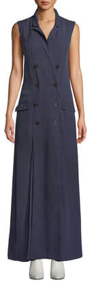 Fame & Partners The Thurman Long Sleeveless Double-Breasted Dress