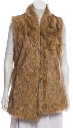Adrienne Landau Faux Fur Open Front Vest