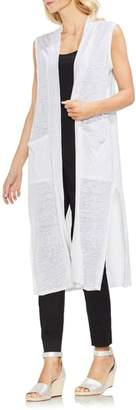 Vince Camuto Long Linen Knit Vest