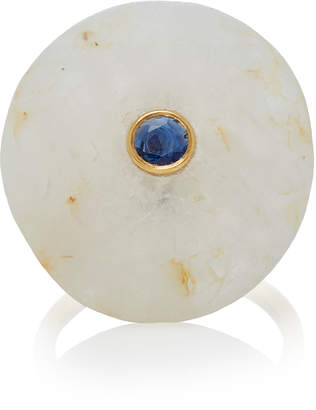 Cvc Stones M'O Exclusive: 18K Gold Beach Stone and Sapphire Ocean Ring