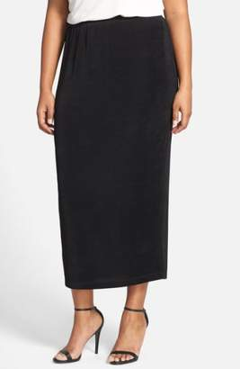 Vikki Vi Stretch Knit Straight Maxi Skirt