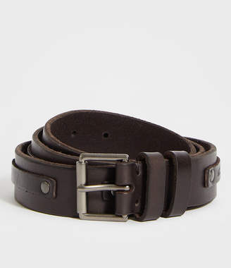 AllSaints Varick Leather Belt