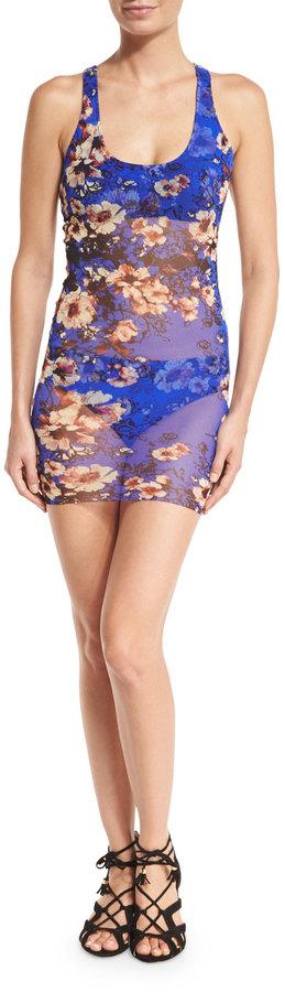 Fuzzi Floral-Print Tankini Swimsuit Set, Bluette 3